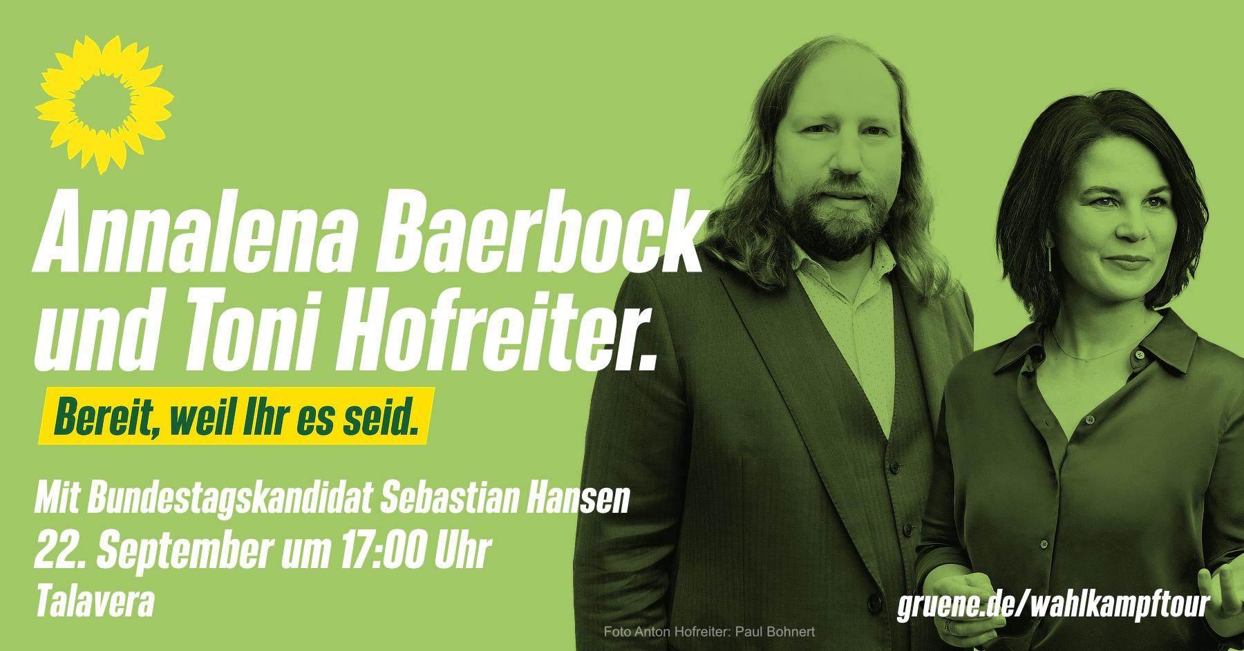 Annalena Baerbock und Toni Hofreiter in Würzburg